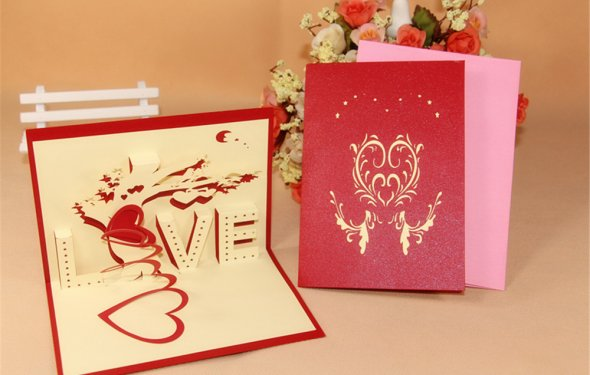 Handmade cards for sale needlework hot sale red 3d for ever love m4hsunfo