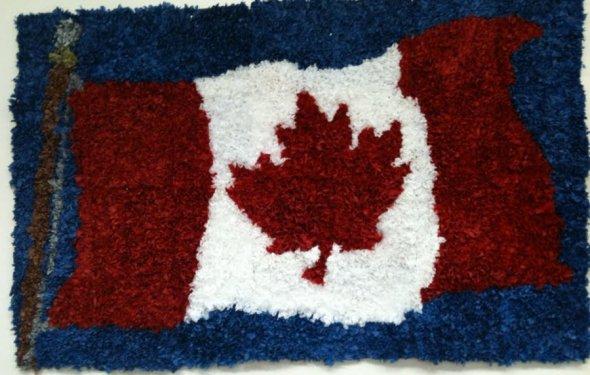 Tissue Paper Flag Mural