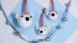 Christmas Crafts: Polar Bear Ornaments