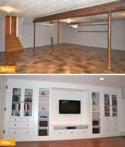 DIY basement built-ins
