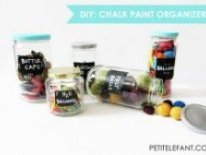 DIY chalk jar organizers