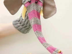 DIY Elephant Sock Puppet