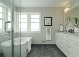Dream bathroom with clean grout