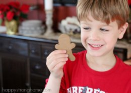 gingerbread man ornament smile