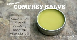 Homemade Comfrey Salve