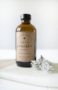 Homemade Vanilla with Free Printable Labels