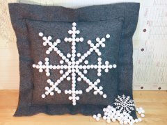 Image of Felt Snowflake Pillow