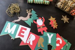 Merry Christmas garland pieces