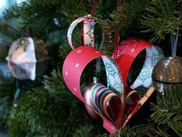 paper hearts decorations for christmas tree