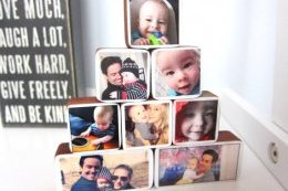 Photo Gifts for Baby Showers: Bebe Photo Blocks customized with people, objects, pets, you name it.