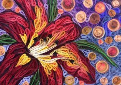 Quilled lily mosaic