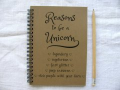 Reasons to be a unicorn journal | awesome little gift for $6!