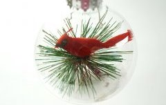 Snow Cardinal Ornament