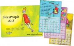 The Full Color 2015 Storypeople Wall Calendar by Brian Andreas