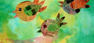 Newspaper Crafts for Kids