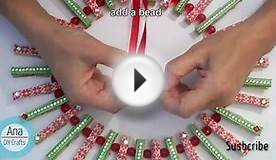 Christmas Wreath with Clothespins.Christmas crafts ideas