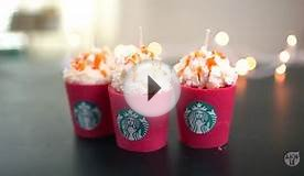 DIY Starbucks Red Cup Candles | Christmas Gift ideas