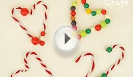 Easy Christmas Crafts for Kids - Candy Cane Tree