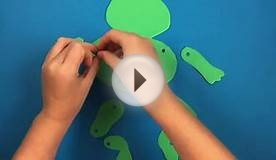How to make a paper frog - simple paper craft ideas for kids