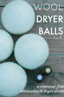 Wool Dryer Balls from The Paleo Mama